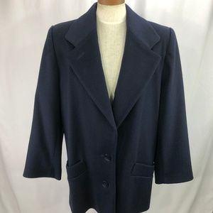 Fleurette Women's Blue Wool Coat L